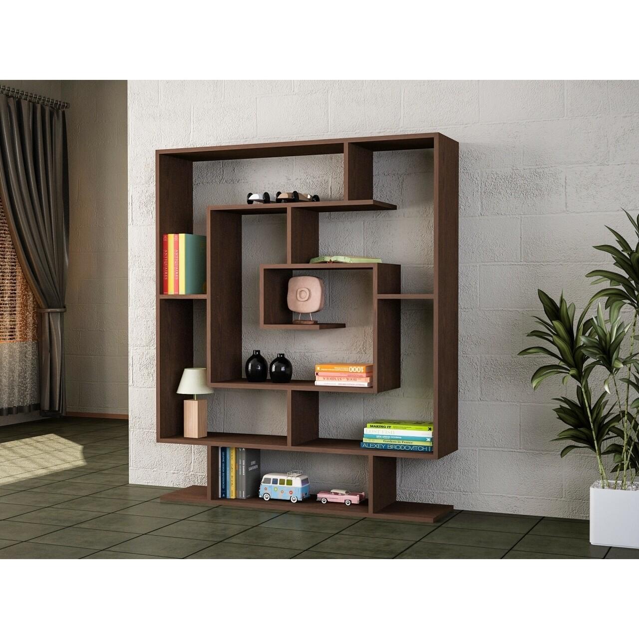 Biblioteca Wooden Art, Sarmasik Wenge, 124.8x149.4x22 cm