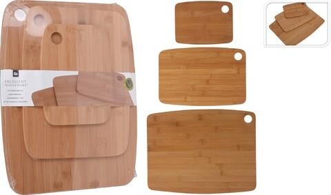 Set 3 tocatoare Excellent Houseware, bambus