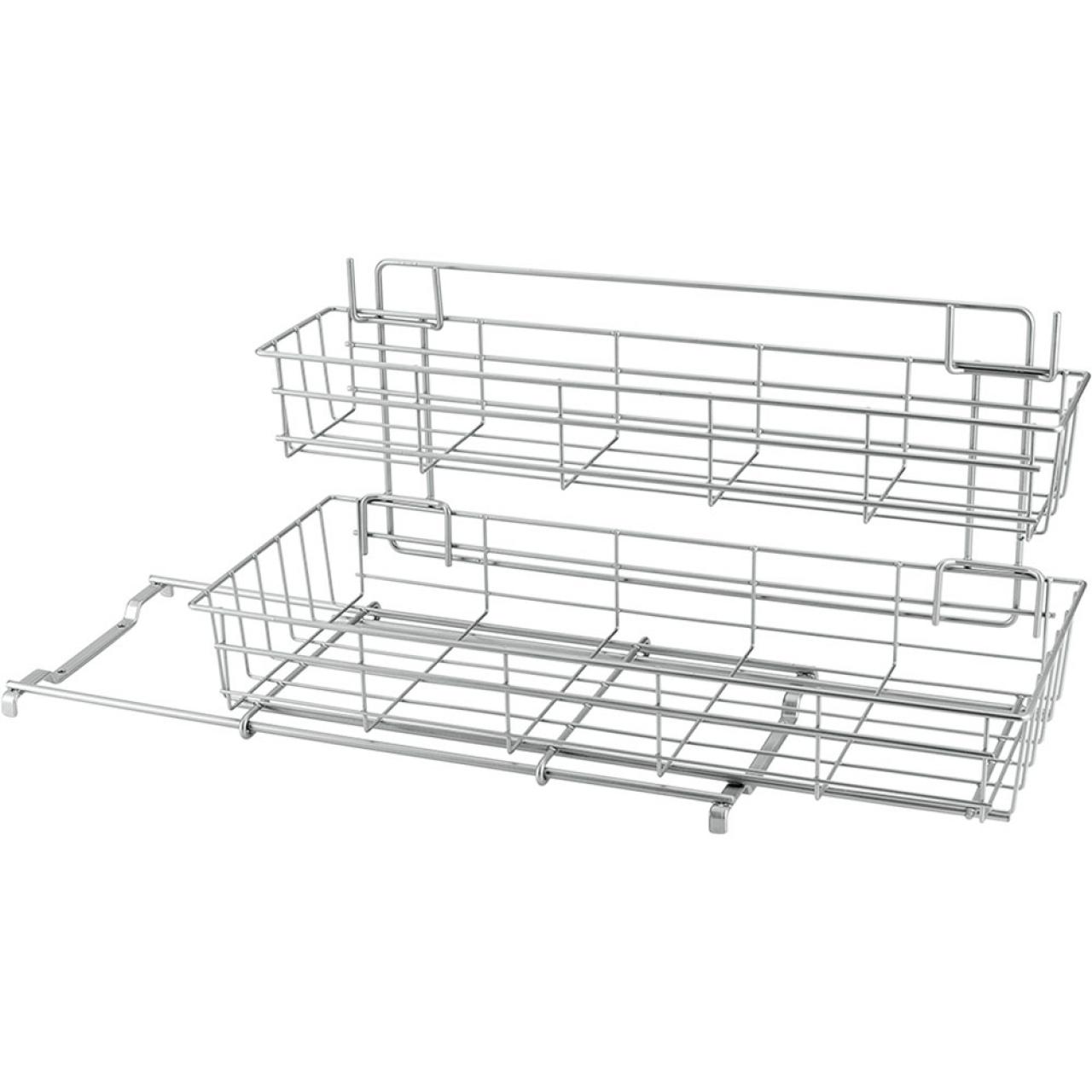 Etajeră cu 2 coșuri pentru dulap Metaltex Limpio