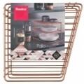 Etajera de colt pentru bucatarie Palio Copper, Metaltex, 19 x 25 x 25 cm, inox/invelis Polytherm, cupru