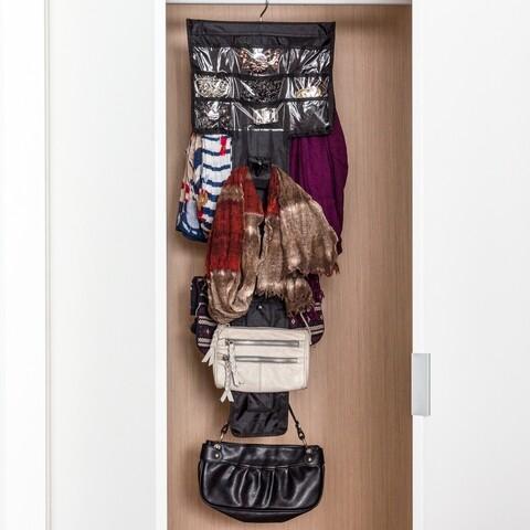 Organizator de genti si accesorii Shiny Hanger Glam InnovaGoods, 32 x 44 cm, nailon