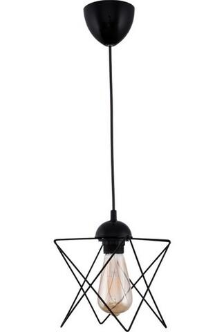 Lustra Geormetric, Casa Parasio, 20x30x60 cm, 1 x E27, 60 W, negru