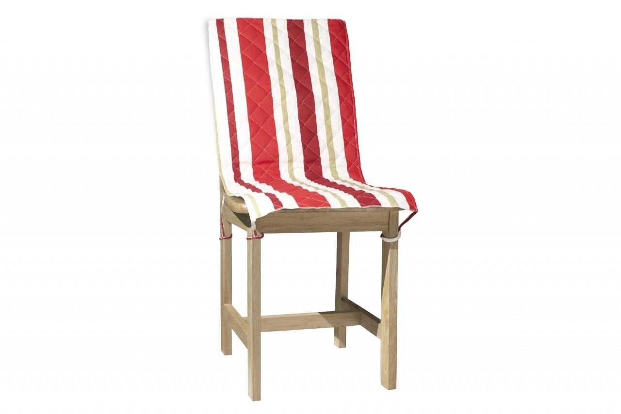 Husa spatar scaun 47x100 cm, Red Stripes, 100% bumbac, rosu