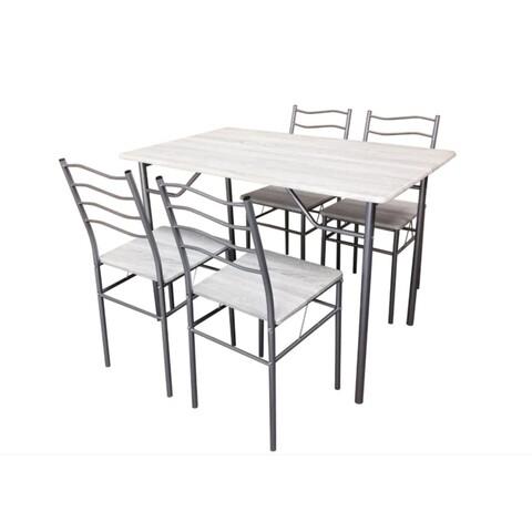 Set dining/bucatarie Bedora Mirazur, masa cu 4 scaune, 110x70x75 cm