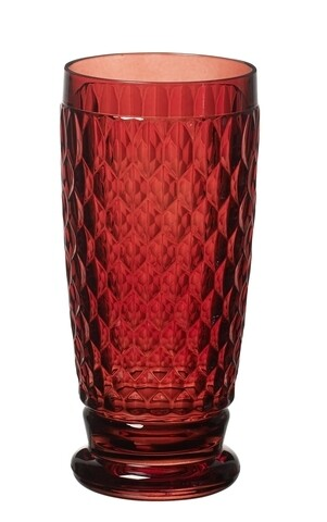 Set 4 pahare de bere/highball, Villeroy & Boch, Boston, 400 ml, sticla cristal, rosu