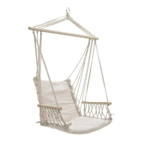 Hamac tip scaun Boho, InArt, 90x50x140 cm, crem