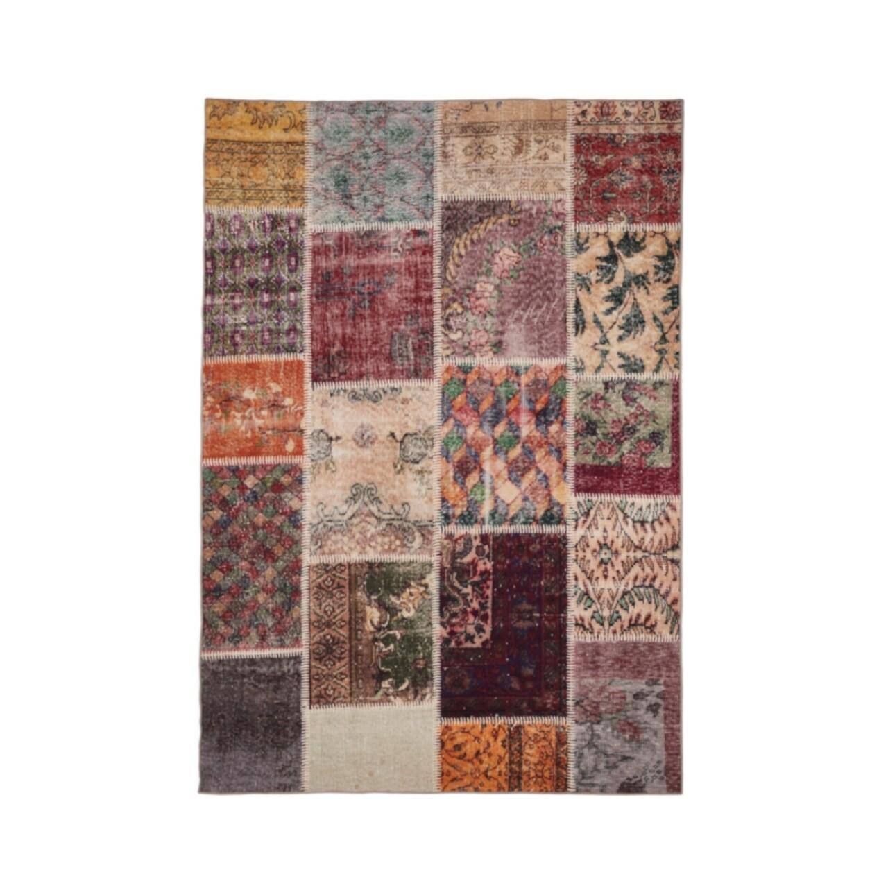 Covor Patchwork Multi, Floorita, 160x230 cm, 77% bumbac, 23% PES, multicolor
