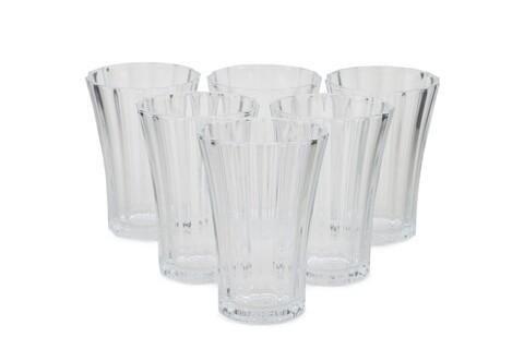 Set 6 pahare Amber, Pasabahce, 9x 4.2 x 6.4 cm, sticla, transparent