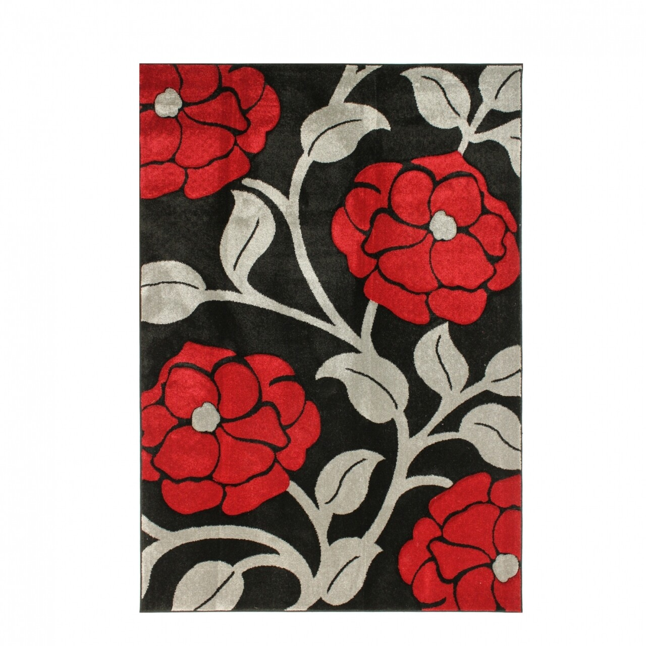 Covor Vine Red, Flair Rugs, 120 x 170 cm, 100% polipropilena, negru/bej/rosu