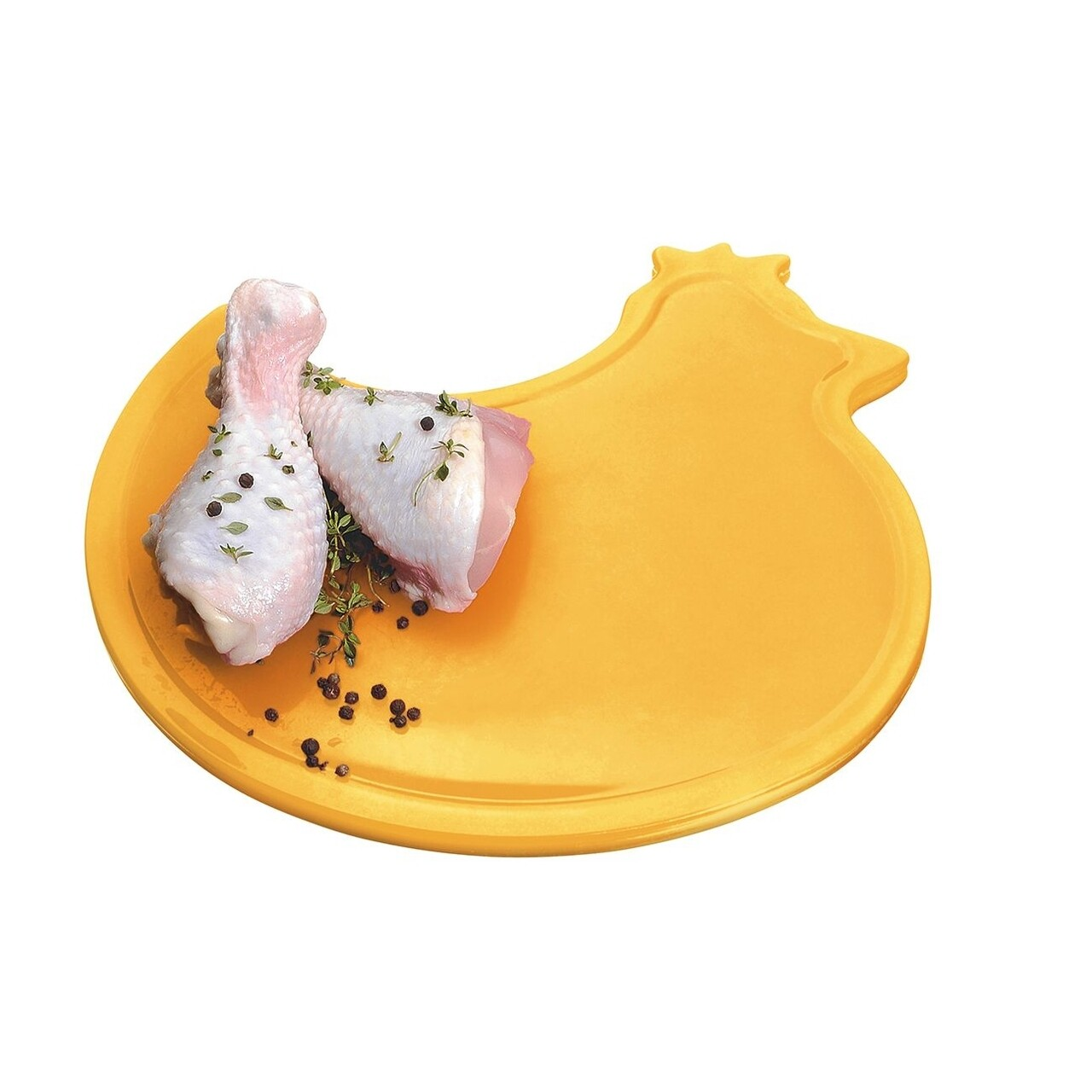 Tocator in forma de pui, Casar, 0.8 x 23 x 28 cm, plastic, portocaliu
