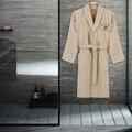Halat de baie unisex, Beverly Hills Polo Club, 100% bumbac, M/L, Crem