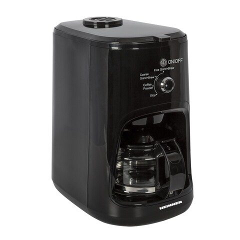 Cafetiera cu rasnita, Heinner, 900 W, 600 ml, negru