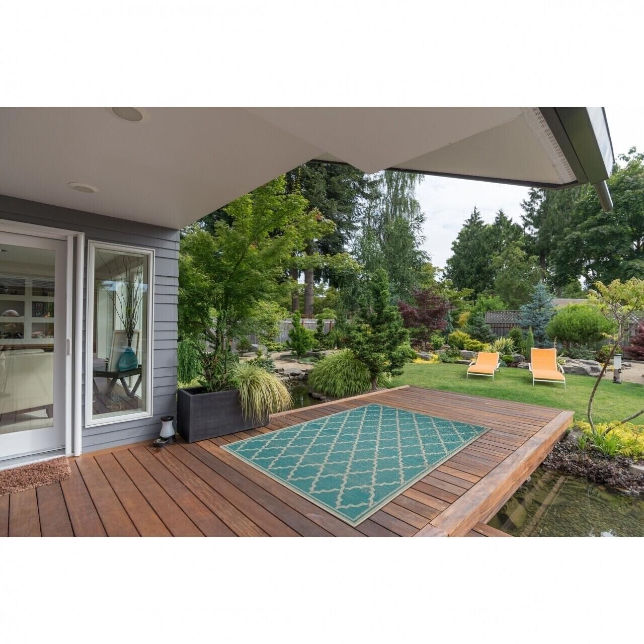 Covor indoor outdoor Floorita INTRECCIO TURQUOISE 160X230