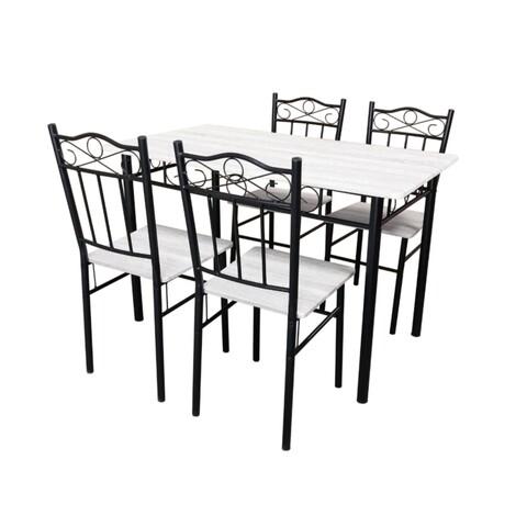 Set dining/bucatarie Bedora Asador, masa cu 4 scaune, 120x70x75 cm