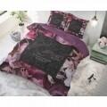 Lenjerie de pat dubla Vintage Amour Black, Royal Textile, 3 piese, 200 x 220 cm, 100% bumbac, multicolora