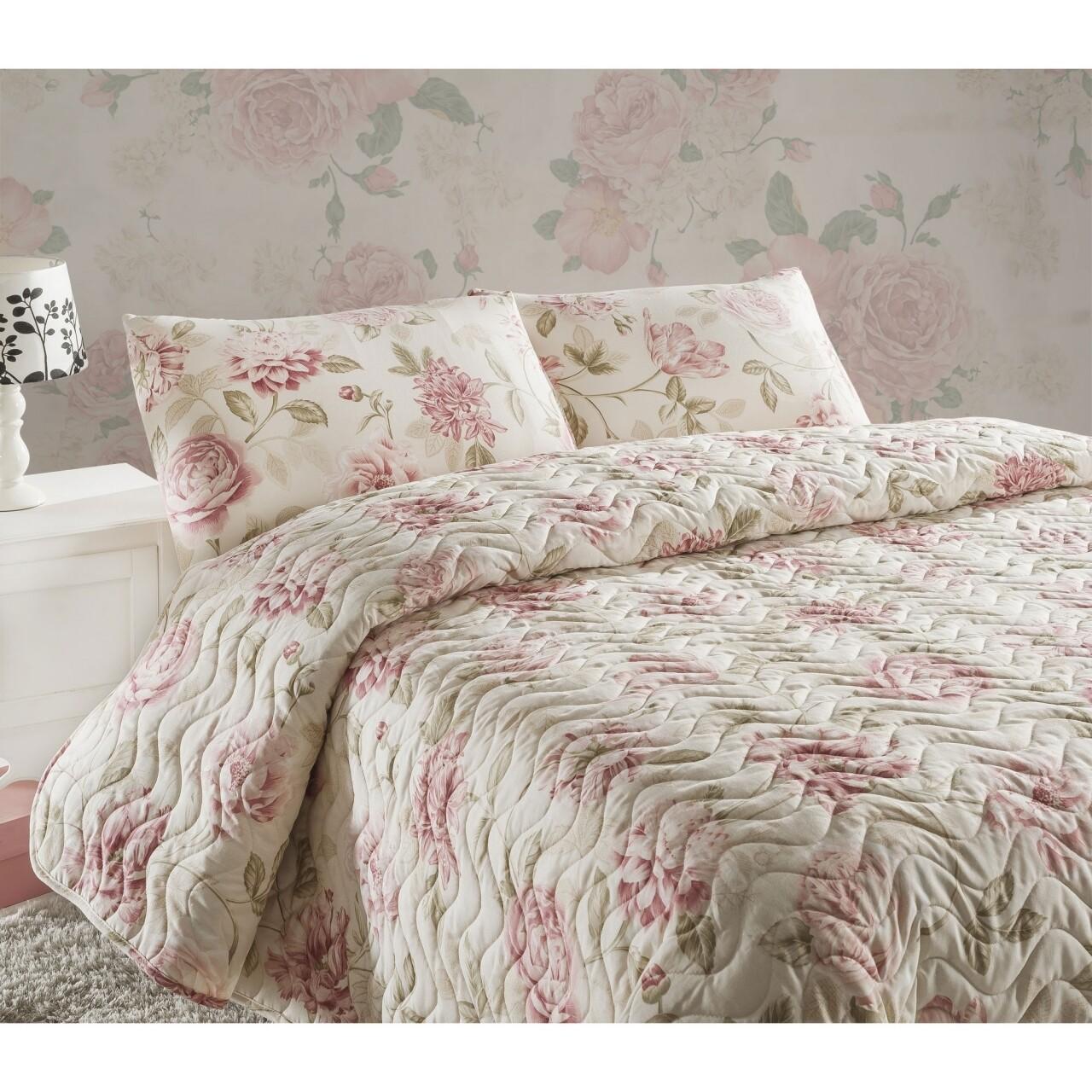 Set de pat double Care Pink