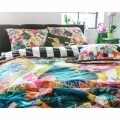 Lenjerie de pat dubla Rikka Multi, Melli Mello, 3 piese, 200 x 220 cm, 100% bumbac satinat, multicolora