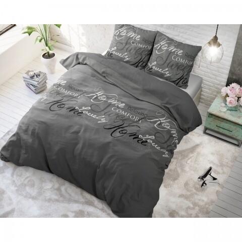 Lenjerie de pat pentru doua persoane, Royal Luxury Grey, Royal Textile,  100% bumbac