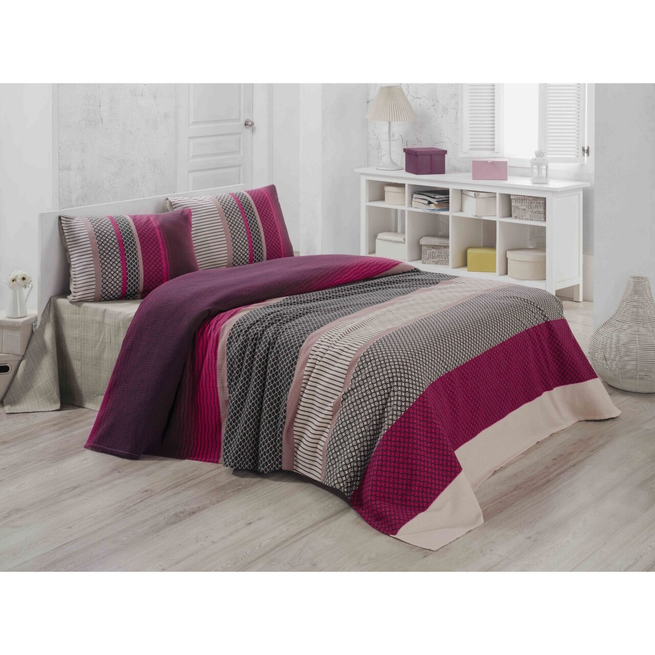 Cuvertura de pat, Victoria, Lotus Pique, 200x230 cm, 100% bumbac, multicolor