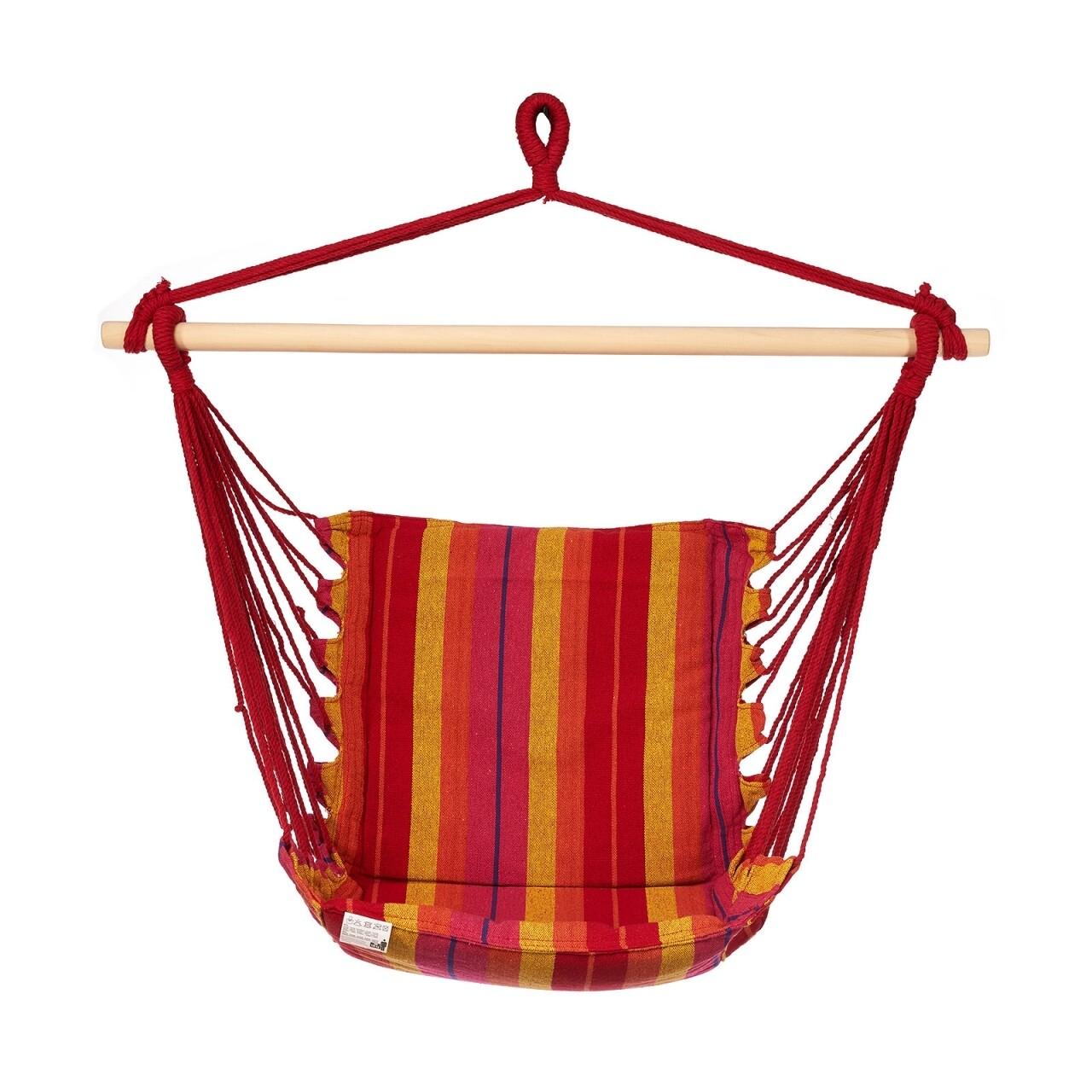 Hamac tip scaun Red & Yellow, 100x55 cm, Heinner