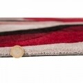 Covor Infinite Splinter Red, Flair Rugs, 160 x 220 cm, 100% poliester, rosu/bej/negru