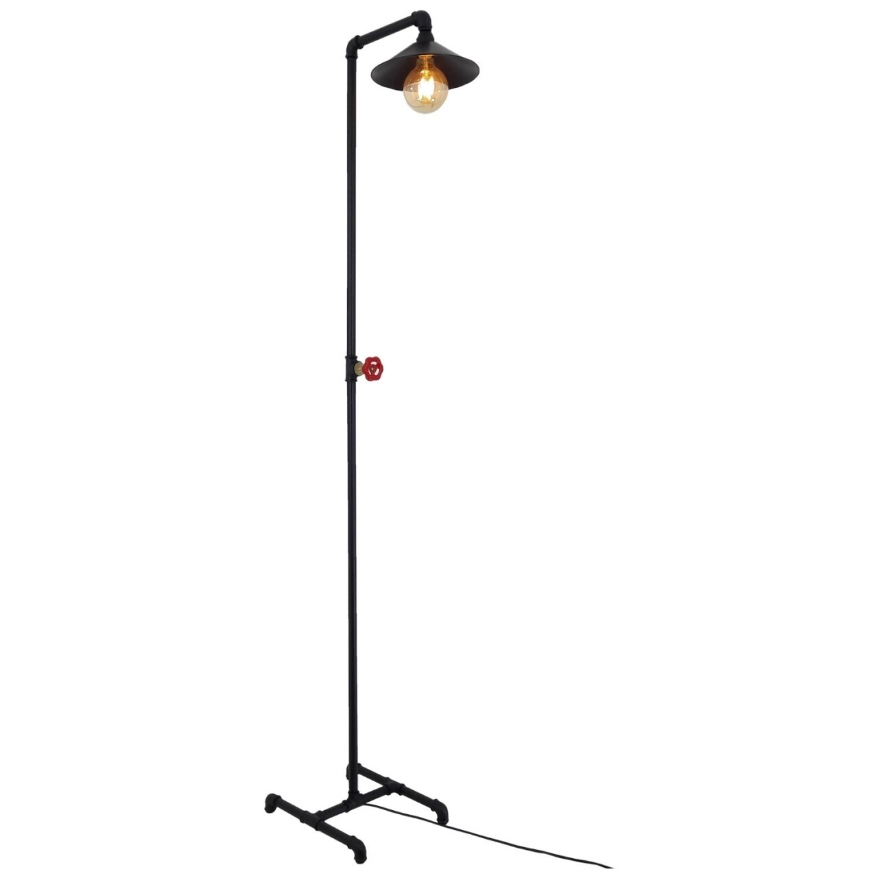 Lampadar All Design, metal, 1.7x36 cm, Black