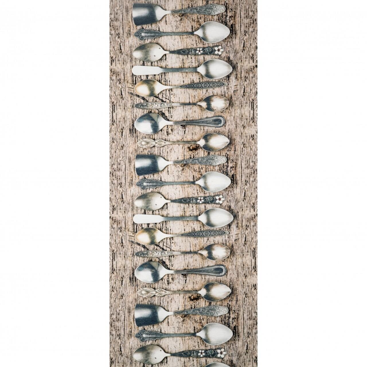 Covor rezistent Webtappeti TEA CM 58x140 cm, gri/bej