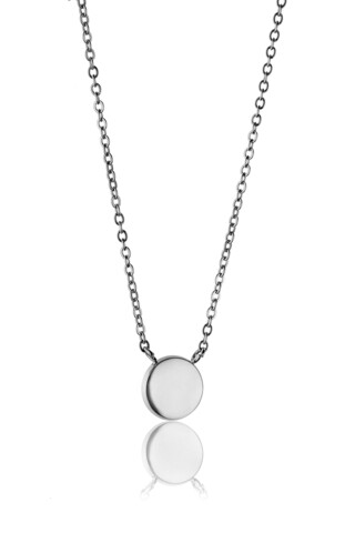 Lantisor cu pandantiv, Emily Westwood, Silver Round, inox, argintiu