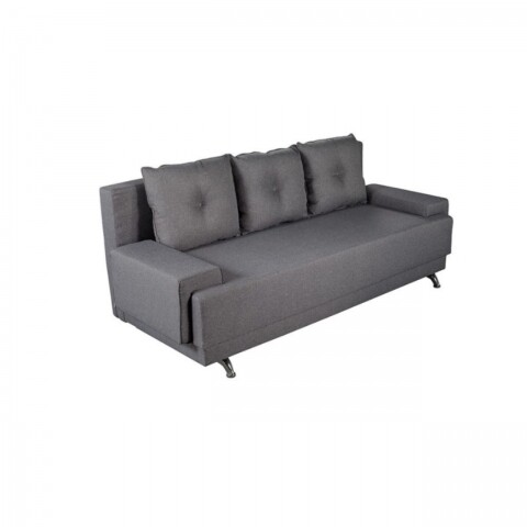 Canapea extensibilă Raluca Lux Grey 205x90x86cm cu ladă de depozitare