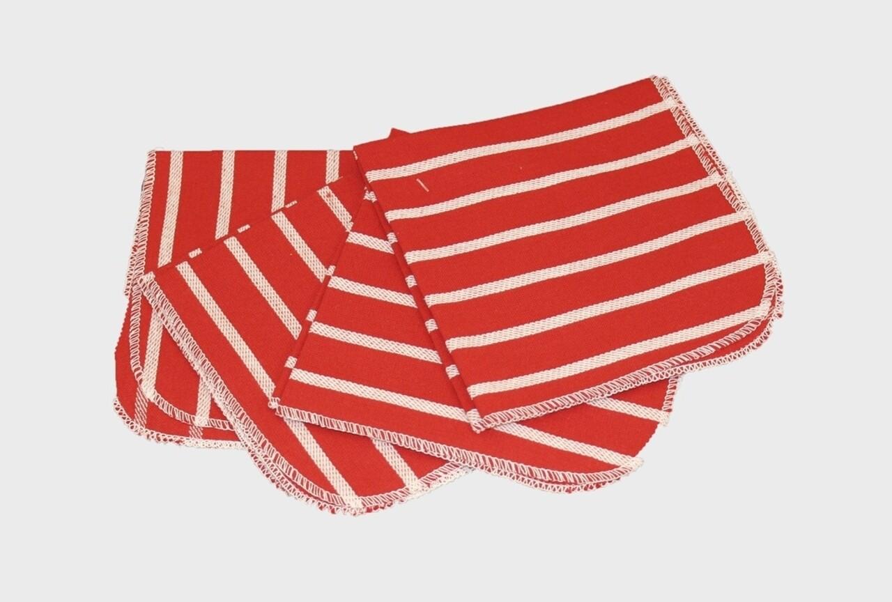 Set 4 servete de bucatarie, Heinner, 35x35 cm, bumbac, rosu