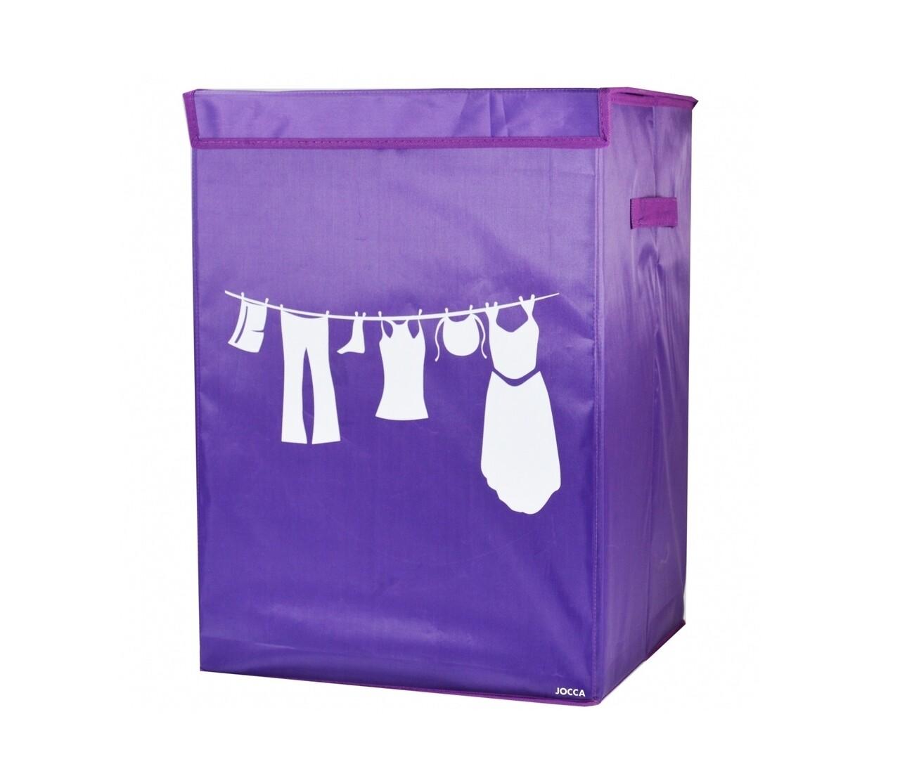 Cos pentru rufe pliabil Purple, 35 x 35 x 50 cm (60 L), poliester, mov