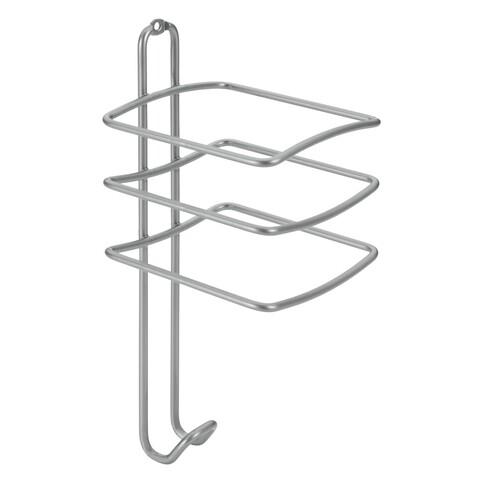 Suport pentru uscatorul de par Onda, Metaltex, 10 x 10 x 25 cm, metal/invelis Polytherm