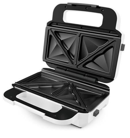 Aparat sandwich maker, Tefal, Snack XL, 850 W, placi detasabile, alb/gri