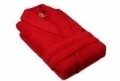 Halat de baie unisex, Beverly Hills Polo Club, 100% bumbac, S/M, Red