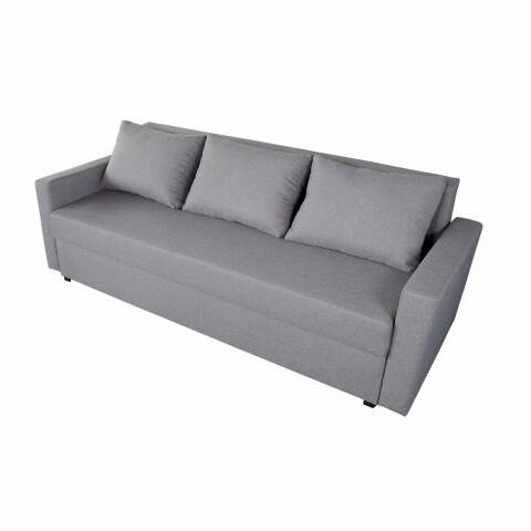 Canapea Mădălina Grey 218x85x85cm cu ladă de depozitare