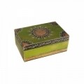 Cutie pentru depozitare handmade Indian Green, Out of the blue, 11.5 x 17 cm, lemn, multicolor