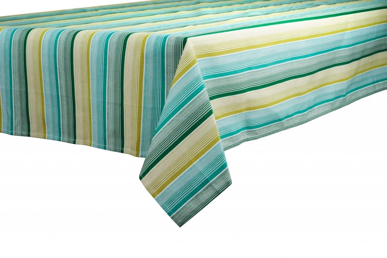 Fata de masa Green Stripes, Heinner Home, 145 x 240 cm, 100% bumbac, multicolora