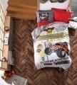 Lenjerie de pat pentru o persoana, 3 piese, 100% bumbac ranforce, Cotton Box, Monster