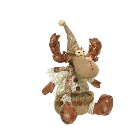 Opritor pentru usa Deer w spangles, Decoris, 18x20x41 cm, poliester, multicolor