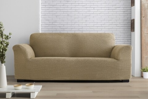 Husa elastica canapea, Belmarti, Milos Beige, 2 locuri