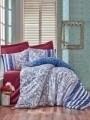 Lenjerie de pat pentru o persoana, 3 piese, 100% bumbac ranforce, Cotton Box, Lorisa