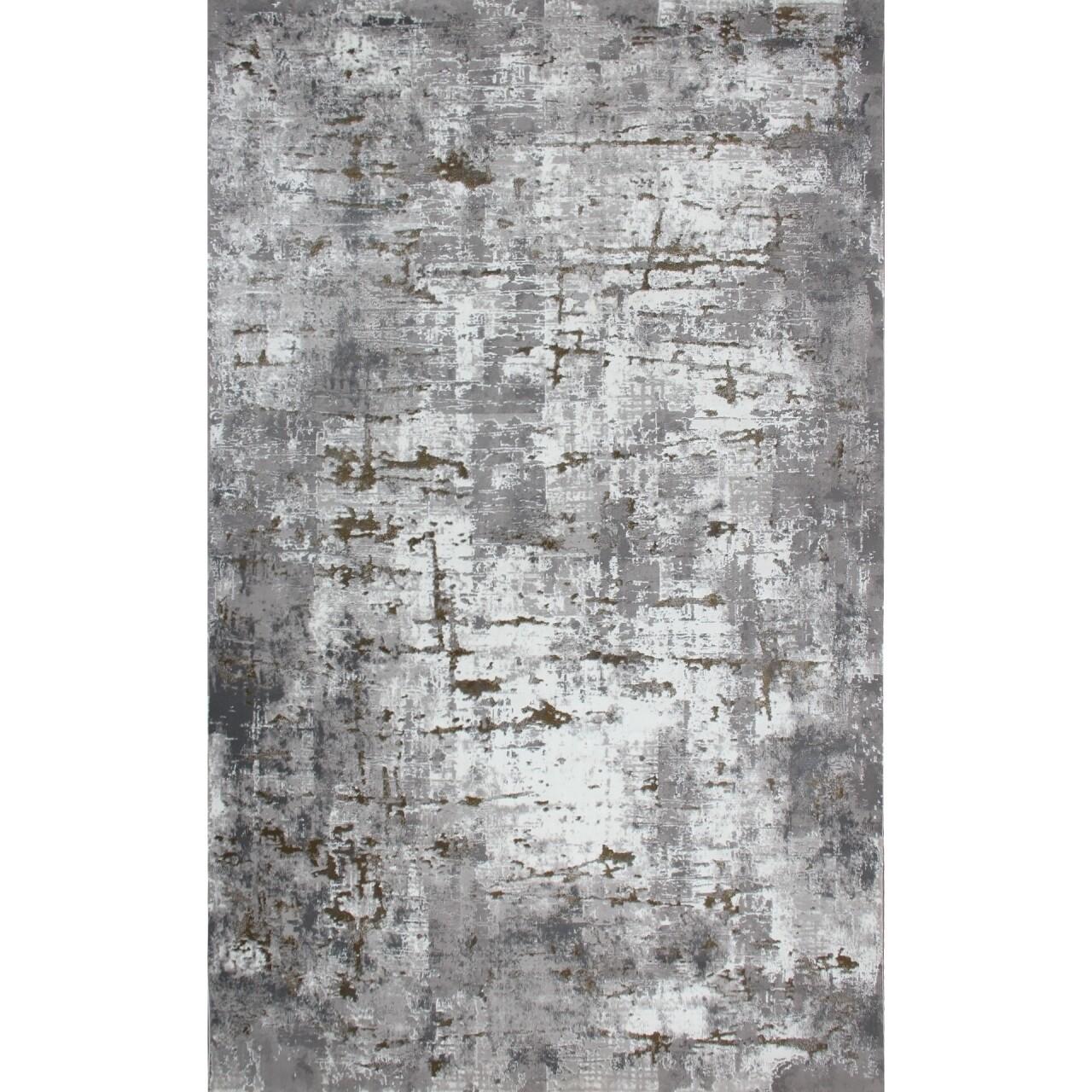 Covor rezistent Eko, CM 08 - Grey, Gold , 100% poliester, 80 x 150 cm
