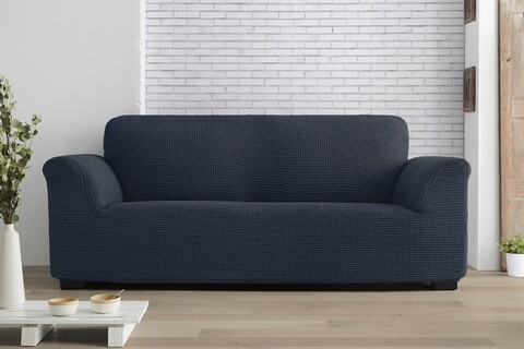 Husa elastica canapea, Belmarti, Milos, 3 locuri, bleumarin
