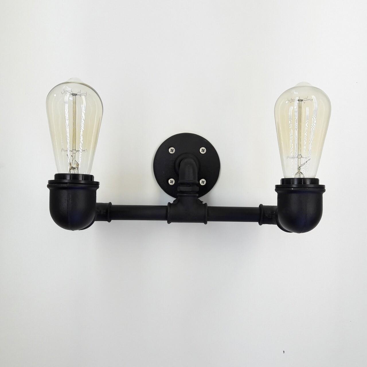 Aplica de perete All Design, metal, 32x14x17 cm, Upward Black