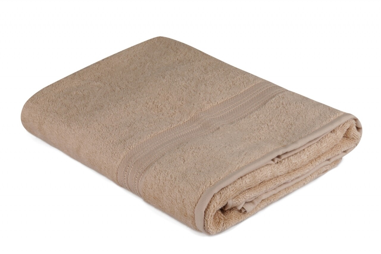 Prosop de maini, Hobby, Lavinya, 50x90 cm, 60% fibra de bambus si 40% bumbac, bej inchis