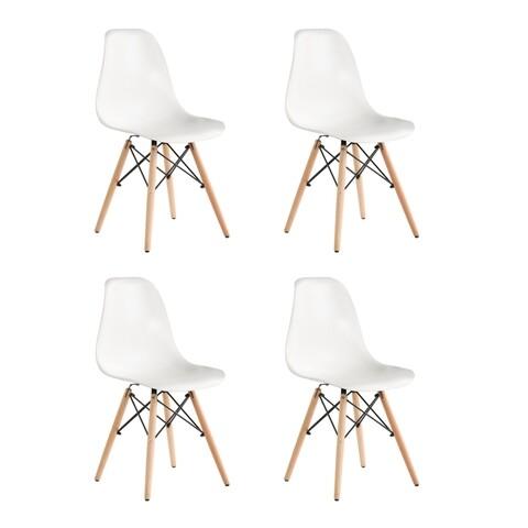 Set 4 scaune Truly, Heinner, alb