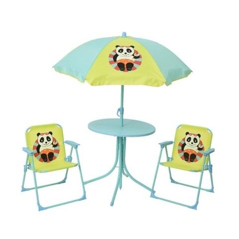 Set mobilier de gradina pentru copii Panda, Decoris, 4 piese, multicolor
