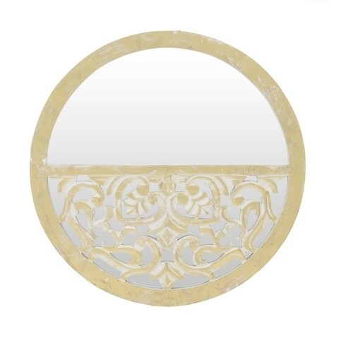 Oglinda decorativa Antique, InArt, 60x4 cm, auriu