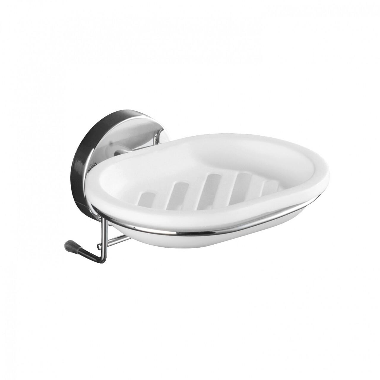 Suport pentru sapun Wenko Vacuum-Loc®, 12 x 13 cm, otel/plastic, argintiu