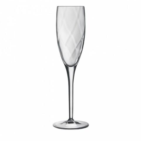 Set 4 pahare sampanie Canalleto Flute, Luigi Bormioli, 177 ml, cristalit, transparent